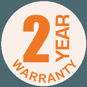 2 Year Warranty Orange