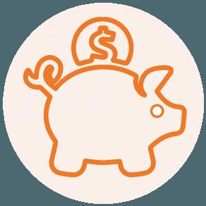 Save Money Orange
